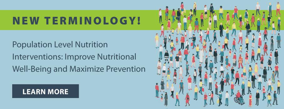 Population Level Nutrition Intervention Terminology